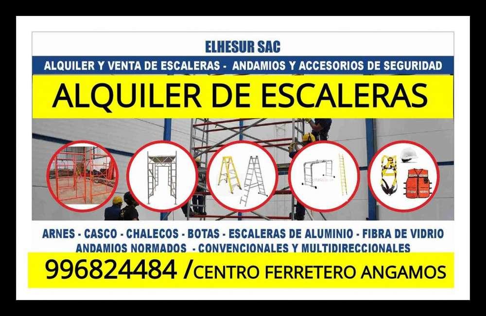 ALQUILER DE ESCALERAS TELESCOPICAS ALQUILER DE ESCALERAS TIJERA ALQUILER DE ANDAMIOS