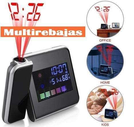 Mutifunciones Proyector, Alarma, Calendario Reloj Led