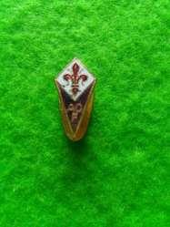 Antiguo Pin Distintivo de la Fiorentina de Italia esmaltado SAF 1960 1970