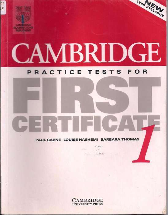 Practice Tests for First Certificate 1