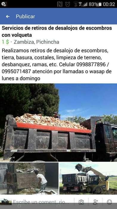 Retiros de Desalojos de Escombros Basura
