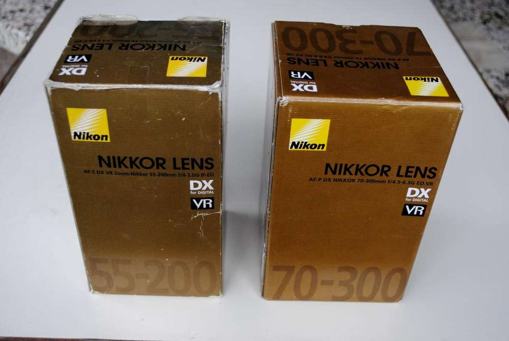 Vendo :kit lentes zoom nikon.
