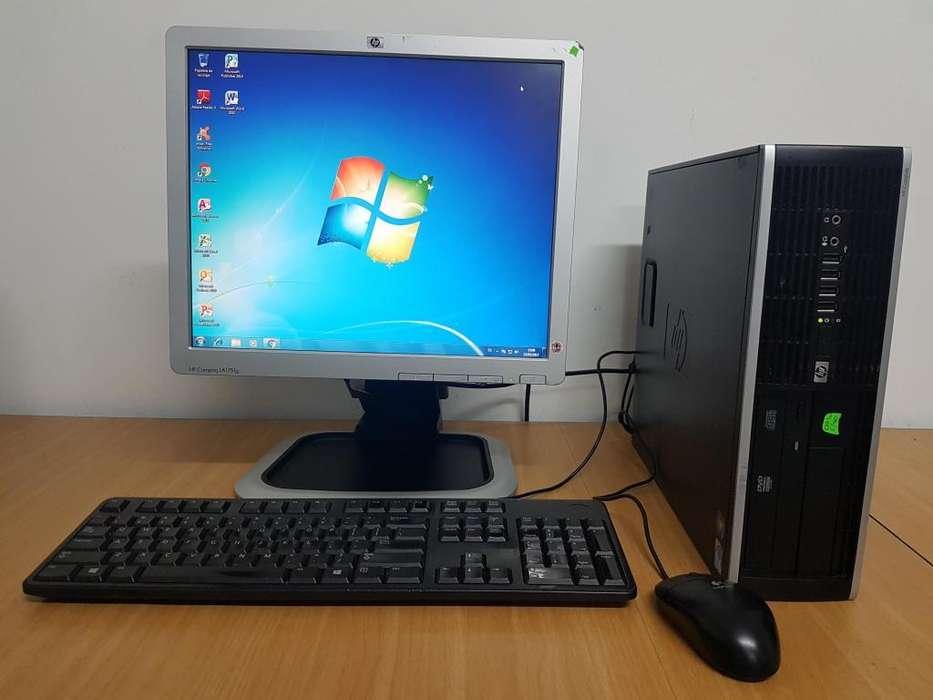 Computador HP monitor teclado y mouse Excelente estado y en funcionamiento