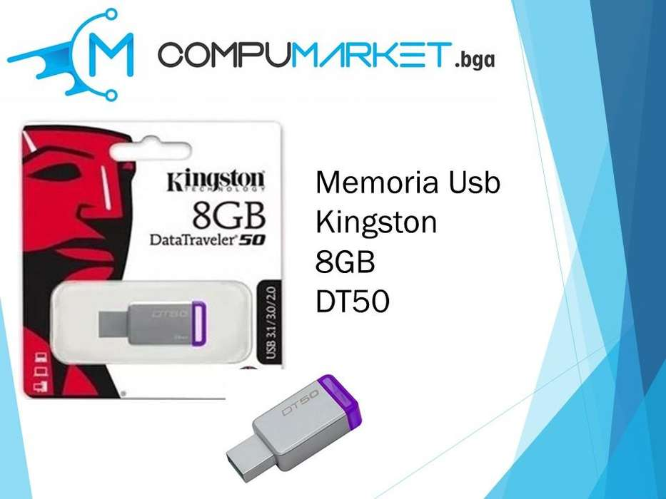 Memoria usb kingston 8gb dt50 nuevo y facturado