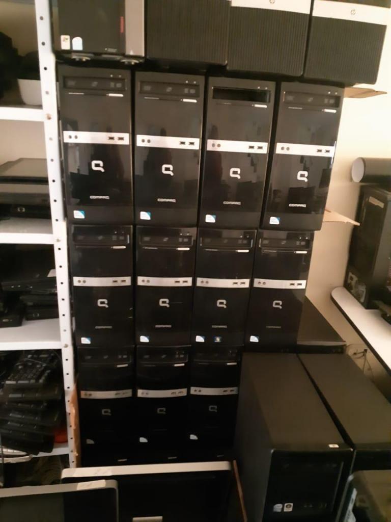 FOTOS REALES TORRES HP DDR3 2GB , 250GB DISCO, DVD, WINDOWS 10