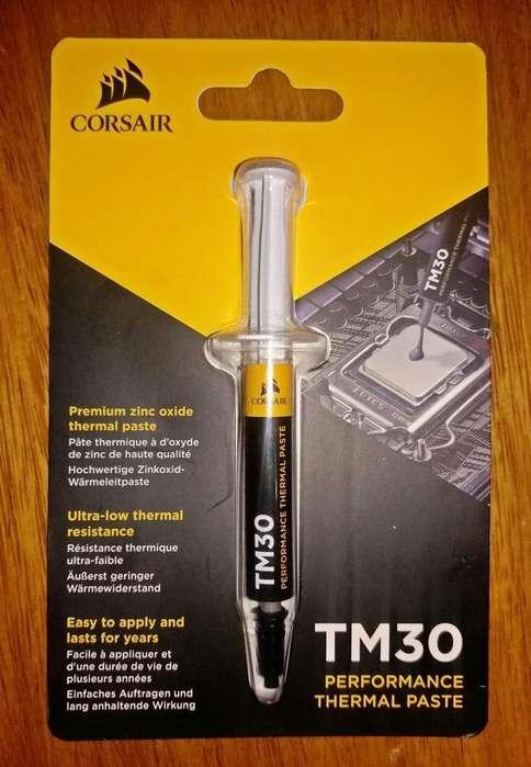 CPU Pasta Térmica Metálica CORSAIR TM30, 4 Gramos, para PC AMD (A, Ryzen) o INTEL (i3,i5,i7). NUEVO. PRECIO 45 Soles