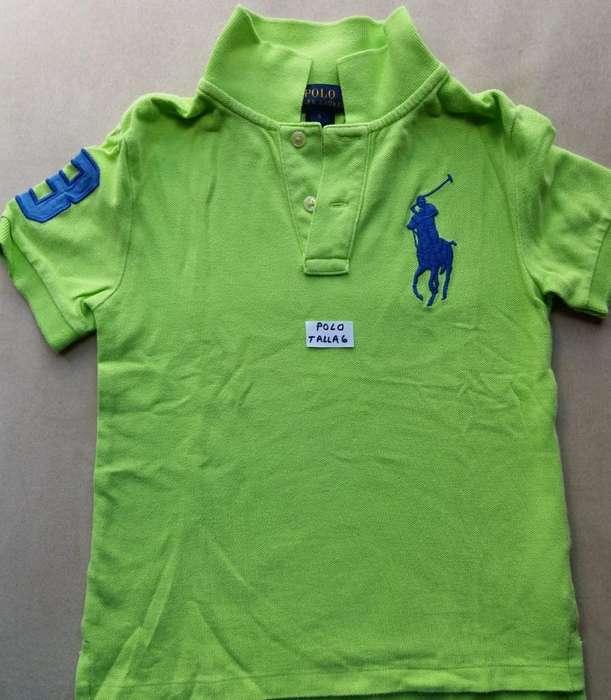 Camiseta Polo Talla 6 Como Nueva Orijina