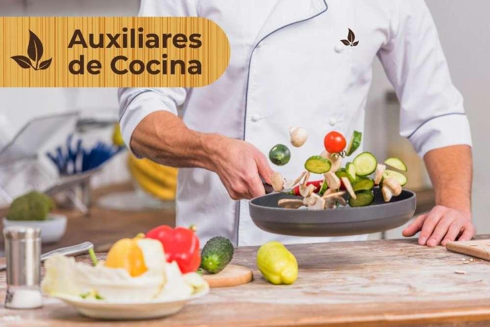 <strong>auxiliar</strong>ES DE COCINA CON EXPERIENCIA EN COMIDA DE MAR