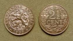 Moneda de 1 cent Antillas Holandesas 1954