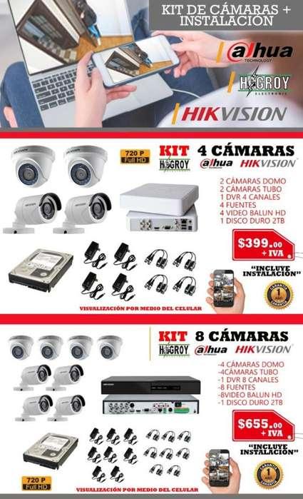 kit instalacion <strong>video</strong> vigilancia dvr hikvision hd cctv camaras analogas e ip <strong>video</strong> balun cable utp disco duro