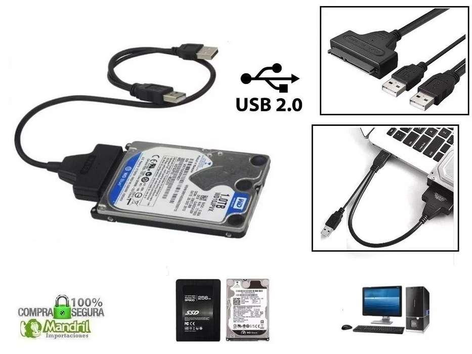 Cable Usb A Sata Para Disco Duro Laptop 2.5'