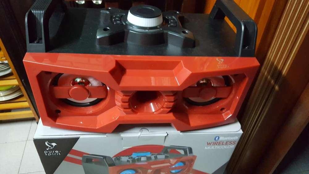NUEVOS reproductor Sbass 50 Parlante Led Boombox Bluetooth y entradas auxiliar excelente sonidos