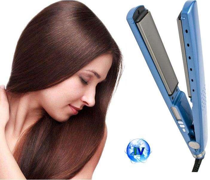 Plancha titanium plates ultra suave para cabello