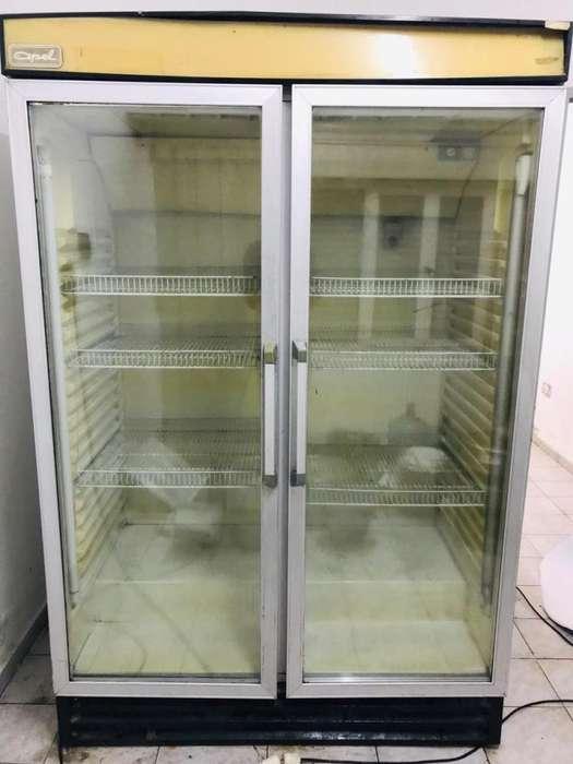 Heladera exhibidora 2 puertas vertical