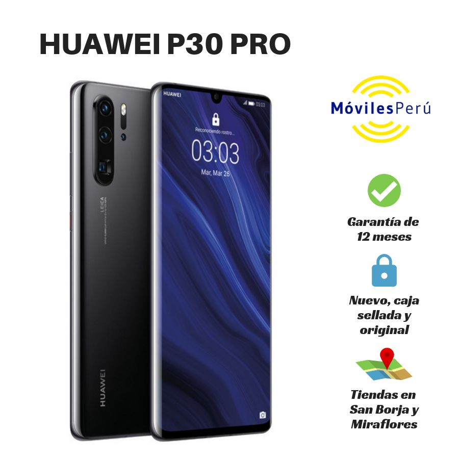 HUAWEI P30 PRO 256 GB NUEVO, CAJA SELLADA, GARANTÍA DE 12 MESES, TIENDAS FÍSICAS