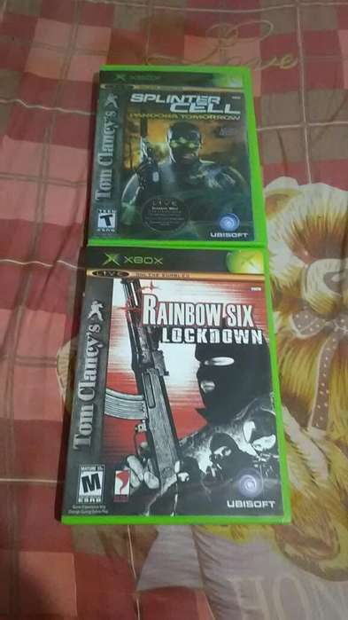 Splinter Cell Y Rainbow Six Xbox Clásico