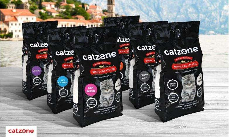 Arena Sanitaria Para Gatos Catzone Premium y Accesorios Domicilio Gratis