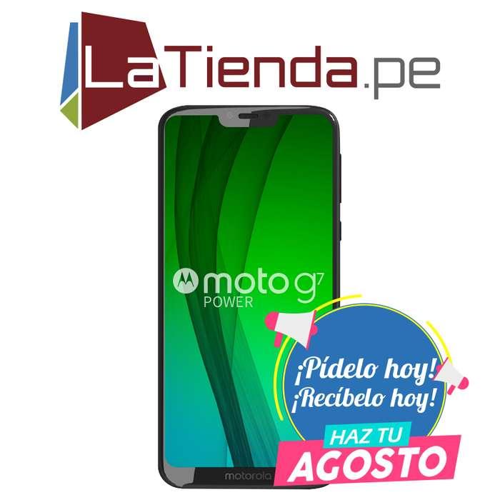 Motorola Moto G7 Power con lector de huellas