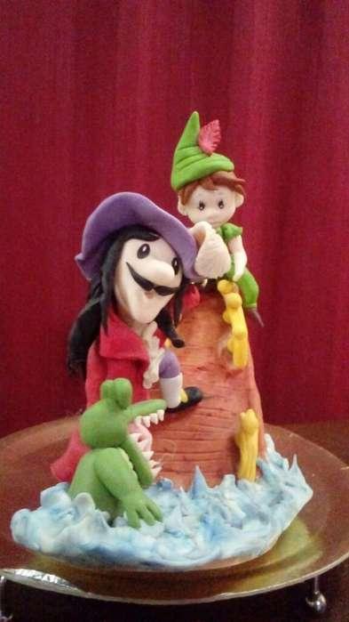 Adorno para Torta Jake Y El Pirata