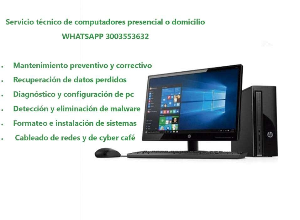 Servicio técnico de computadores presencial o domicilio Whatsapp 3003553632 tunja 26.000