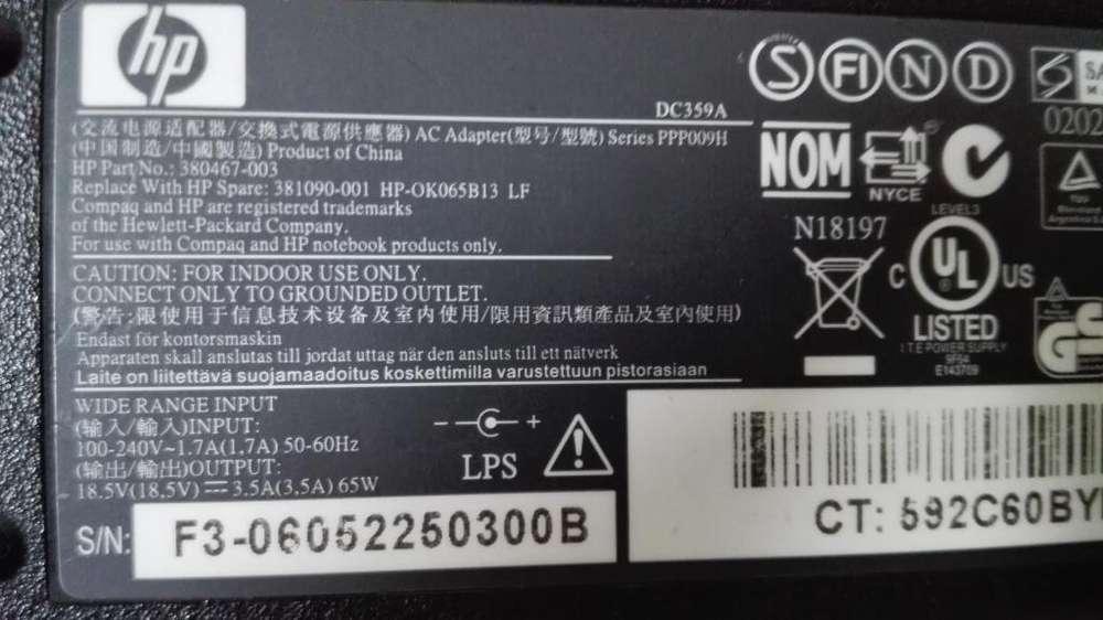 cargador HP original 18.5V 3.5amp