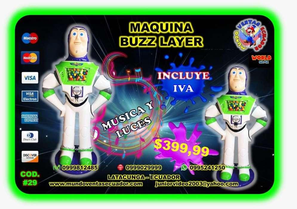 MAQUINA DE CHICLES BUZZ M&M, HUEVO, MICKE,MICKEY, MINIOM