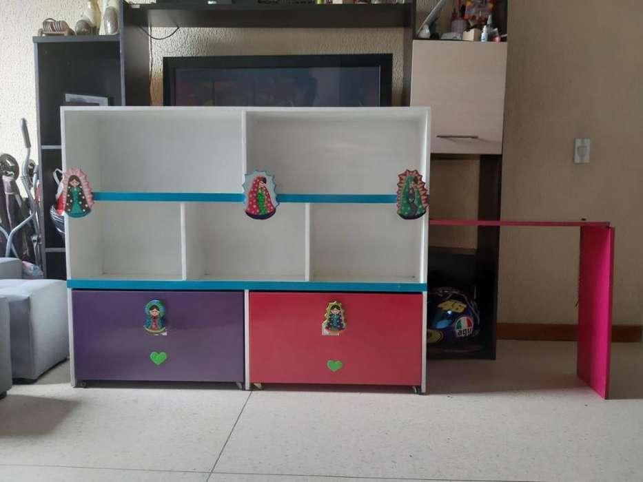 Mueble organizador Alcoba Niña