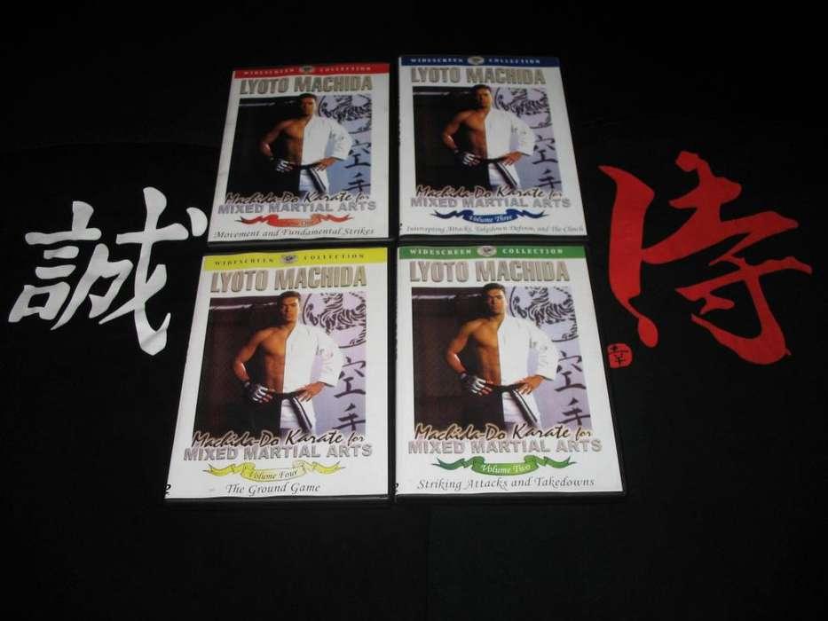DVD INSTRUCTIVOS DE KARATE PARA MMA UFC LUCHA GRAPLING SAMBO BJJ JUDO POR SENSEI LYOTO MACHIDA 04 DISCOS