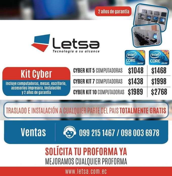 Cybers Kit 5 computadoras Core 2 Duo 1048