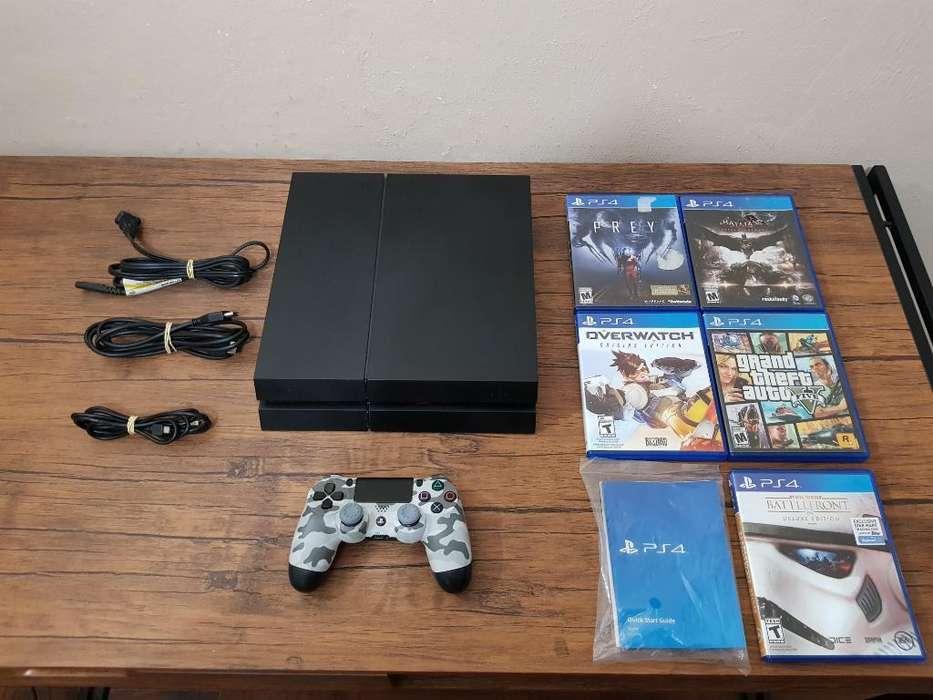Playstation 4 Ps4 500gb 5 Juegos