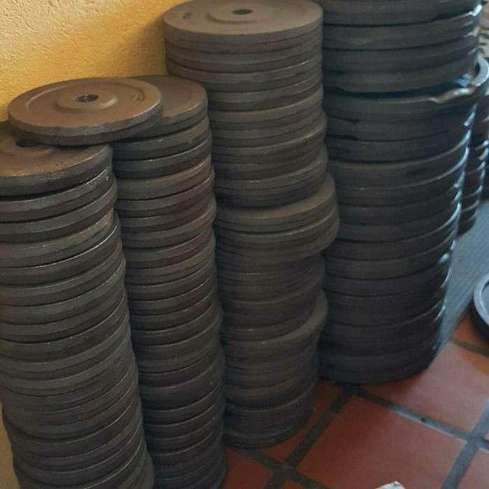 Discos De Pesas Fundición 2.5Kg 5Kg 10Kg