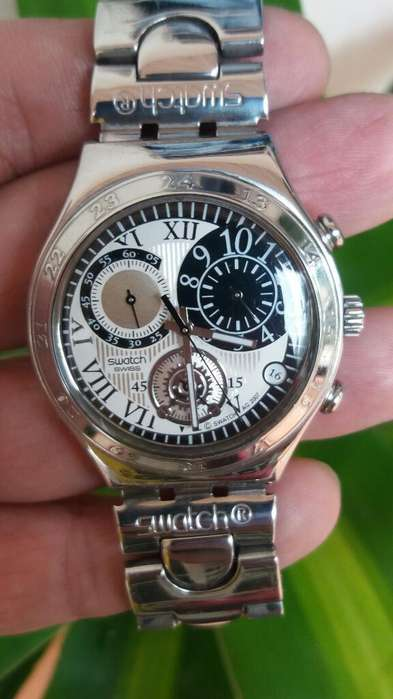 Hermoso Swatch Irony Cronografo Y Fecha