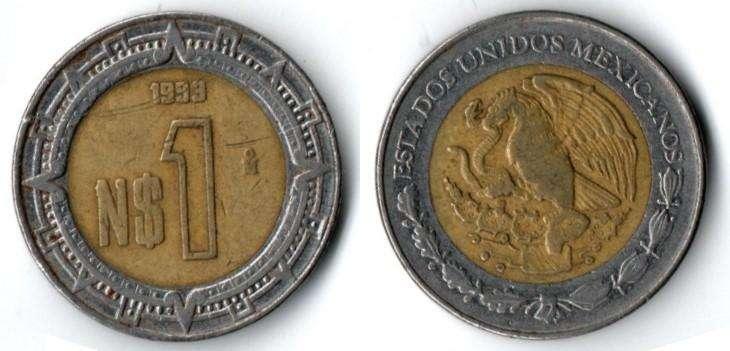 MEXICO. MONEDA. 1 NUEVO PESO. 1993. KM 550. 330 M UNIDADES. ESTADO 6 DE 10. VALOR 5300