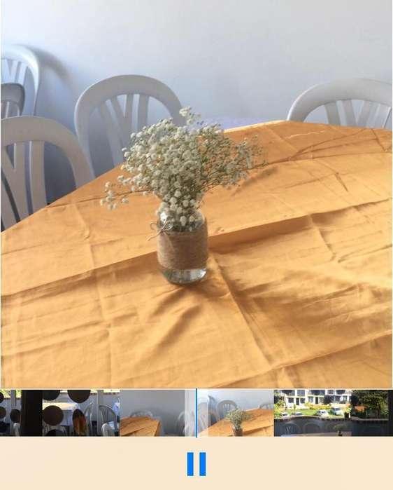 Alquiler de sillas, mesas, manteles para sus eventos