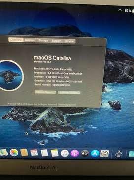 Macbook air i7 año 2015 ssd 512