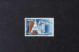 ESTAMPILLA ISRAEL, 1968, SERIE EXPORTACIONES, EQUIPO ATÓMICO, USADA