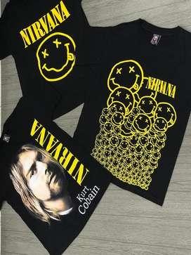 Camiseta banda de rock nirvana