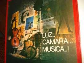 DISCOS 9 LP COLECCIÓN LUZ... CAMARA... MUSICA!!! DE PELICULAS CBS