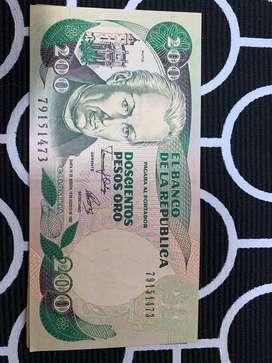 Numismática de billetes Colombianos de la serie de 1980