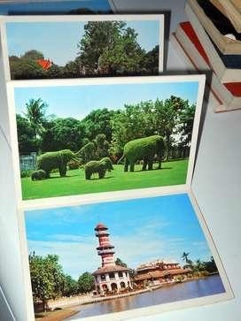 tira de postales antiguas de tailandia, texto en ingles