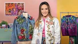 Curso Diseño de moda: pintura y bordado sobre prendas - Curso Domestika