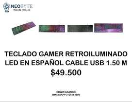 TECLADO GAMER RETROILUMINADO LED