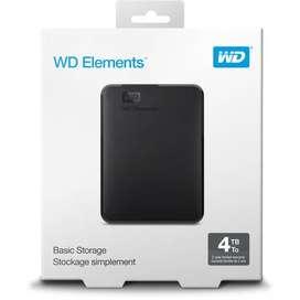Disco duro externo portátil WD Elements de 4 TB, USB 3.0