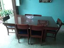 Mesa comedor 6 puestos antigua extendible