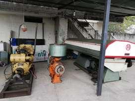 Motor Caterpilar, pulidora y clasificadora de arroz