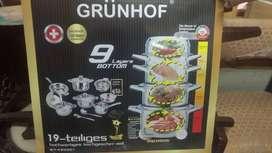 Juego de ollas Grunhof Alemanas, 19 piezas