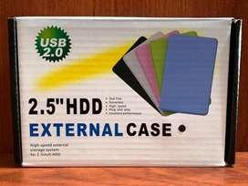 Case Enclosure Disco Duro Externo Laptop 2.5 Sata Usb 2.0 case disco duro