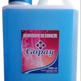 Removedor de esmalte,Gopay. X 1000ml.