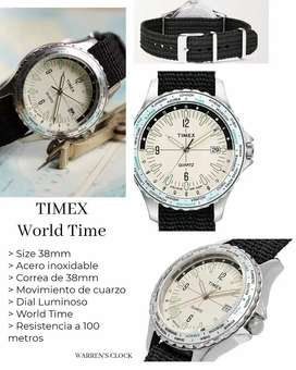 Reloj Timex World Time 100 metros