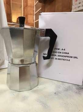 Cafetera en aluminio